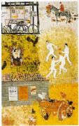 Vintage London underground poster - Village life